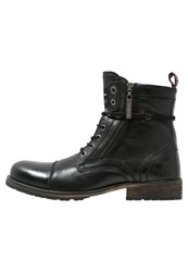 Pepe Jeans Melting Laceup Boots Black