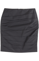 Paule Ka Ruched Cotton Skirt