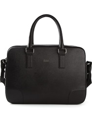 Hugo Hugo Boss Textured Briefcase Black