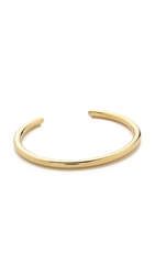 Elizabeth And James Obi Bangle Bracelet Gold White Topaz
