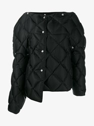 Acne Studios Bobbi Quilted Down Coat Black Silver