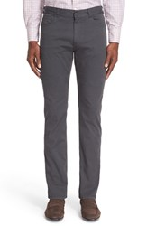 Canali Men's Five Pocket Stretch Twill Pants Grey