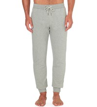 Versace Gym Stretch Cotton Jogging Bottoms Grey Melange