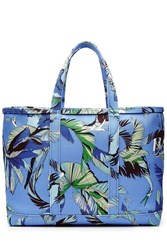 Emilio Pucci Printed Cotton Tote Blue