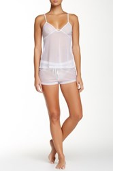 Joe's Jeans Cami And Short Pj Set White