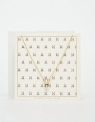 Johnny Loves Rosie Bunny Gift Card Necklace Gold