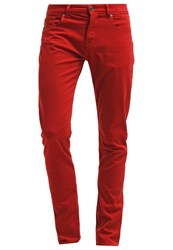 7 For All Mankind Chad Straight Leg Jeans Red