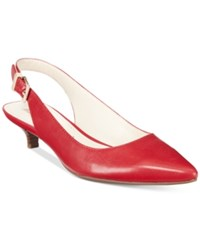 Anne Klein Expert Kitten Heel Pumps Red