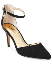 Thalia Sodi Vanesssa Pointed Toe Pumps Only At Macy's Women's Shoes Black Black Snake