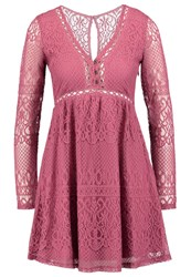 Hollister Co. Summer Dress Blush Lace Off White