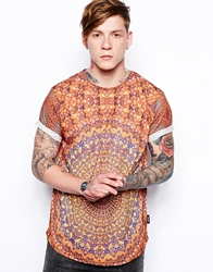 The Cuckoo's Nest The Cuckoos Nest T Shirt With Tessellation Print And Sport Fit Orange