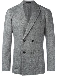 Paolo Pecora Double Breasted Blazer Grey