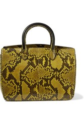 Jil Sander Leather Python Shoulder Bag Yellow