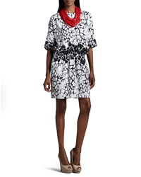 Indikka Printed Dress With Necklace