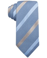Tasso Elba Ribbon Stripe Tie Only At Macy's Blue