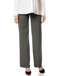 A Pea In The Pod Maternity Wide Leg Pinstripe Pants Charcoal Pin Stripe