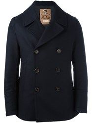 Sealup Double Breasted Short Coat Blue