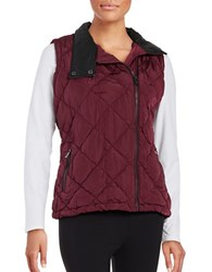Marc New York Quilted Performance Vest Maroon