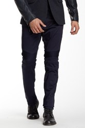 Ron Tomson Faux Leather Trim Slim Fit Moto Skinny Jean Blue