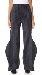 Jacquemus Wave Pants Grey Striped