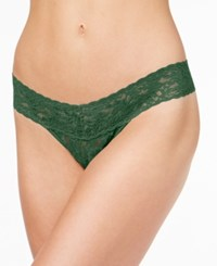 Hanky Panky Signature Lace Low Rise Thong 4911 Woodland Green