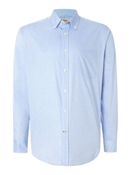 T.M.Lewin Oxford Relaxed Fit Casual Shirt Light Blue