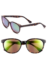 Isaac Mizrahi Retro Sunglasses Dark Tortoise Mirror