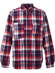 Engineered Garments Plaid 'Work' Shirt Red