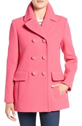 Kate Spade Women's New York Wool Blend Peacoat Pink Swirl