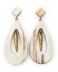 Ashley Pittman Heleni Earrings Light Horn White