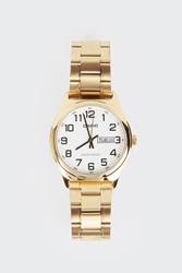 Good As Gold Online Clothing Store Mens And Womens Fashion Streetwear Nz Analogue Watch With Date Display Mtpv003g 7B Gold White
