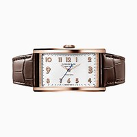 Tiffany And Co. East West 3 Hand 46.5 X 27.5 Mm Watch In 18K Rose Gold.