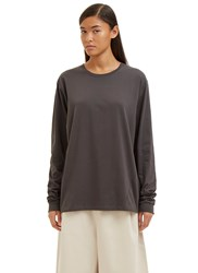 Kowtow Building Block Long Sleeved Boyfriend Top Black
