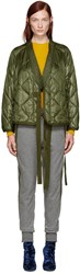 3.1 Phillip Lim Green Quilted Kimono Jacket