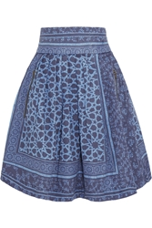 Preen Line Jennah Pleated Printed Denim Skirt