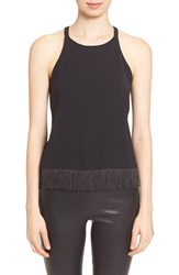 Women's Parker 'Mosaic' Sleeveless Fringe Top