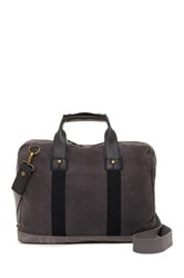 Marc New York Fairfield Leather Trimmed Top Handle Briefcase Gray