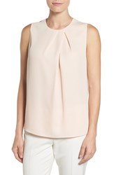 Nic Zoe Women's Peak Pleated Top White Peach