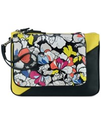 Nine West Table Pouch Large Clutch Black White