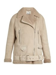 Acne Studios More She Sue Shearling Jacket Beige