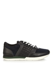 Bottega Veneta Runner Intrecciato Suede And Leather Trainers