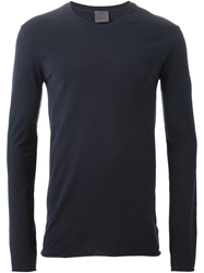 Laneus Raw Edge Longsleeved T Shirt Blue