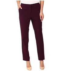 Calvin Klein Slim Pants W Pockets Aubergine Women's Dress Pants Purple