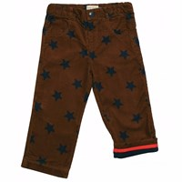 Toby Tiger Brown Star Trousers Blue Brown