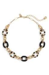 Women's Kate Spade New York 'Mod Moment' Link Necklace Black