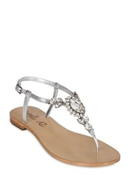 Venti 12 Embellished Metallic Leather Sandals