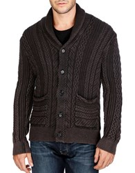 Lucky Brand Cable Knit Cardigan Jet Black