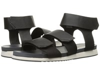 Calvin Klein Colton Black Tumbled Leather Men's Sandals