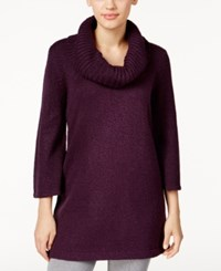 Karen Scott Marled Cowl Neck Tunic Sweater Only At Macy's Purple Dynasty Marl