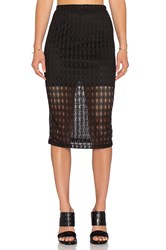 Wayf Crochet Pencil Skirt Black